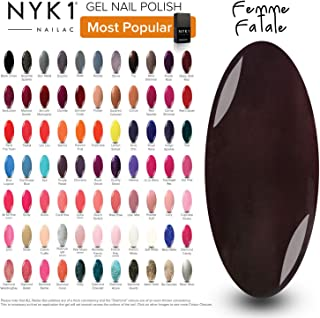 Dark Brown Black Gel Polish - (Femme Fatale) Black Chocolate Nail Autumn Winter Undertone colour UV LED Gel Lamp Curing Manicure Professional Varnish