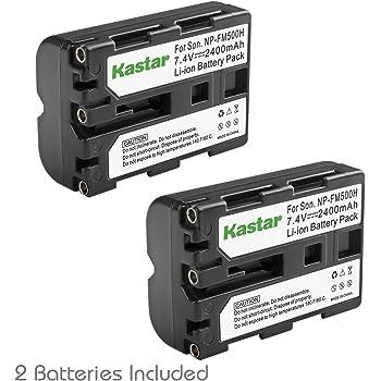 Kastar NP-FM500H Battery (2-Pack) for Sony DSLR-A100 A200 A300 A350 A450 A500 A550 A560 A580 A700 A850 A900 Alpha SLT A57 A58 A65 A65V A77 A77V A77 II A77M2 A99 A99V CLM-V55 Cameras