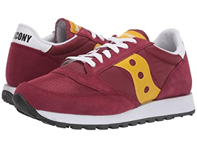 Saucony Originals Jazz Original Vintage (Maroon/Yellow) Men