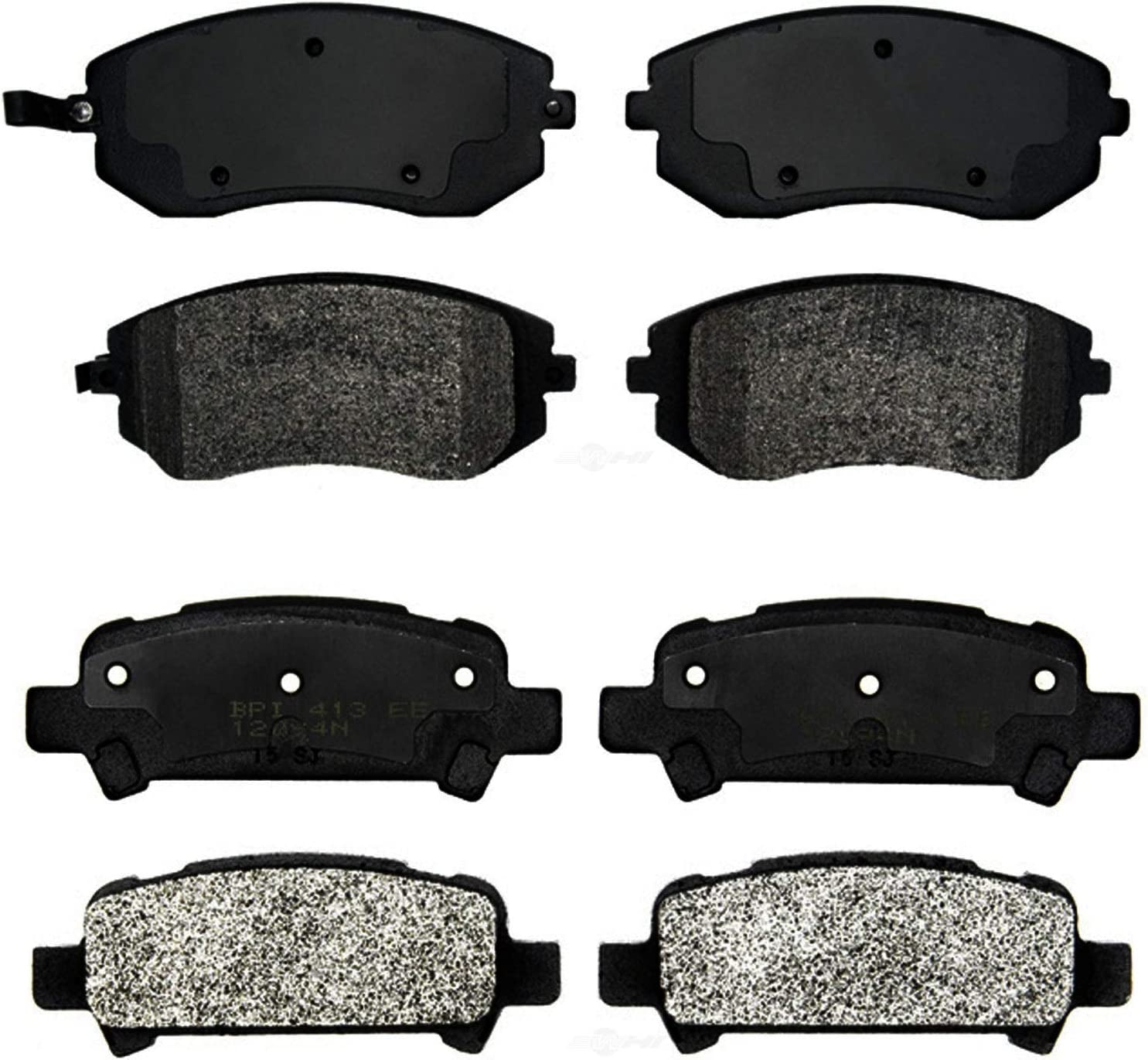 Front Rear Semi-Metallic Brake Reservation Pad Sets Kit Subaru Baja Credence PRO For
