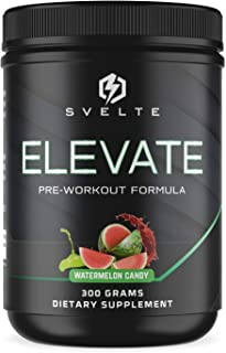 SVELTE Elevate Pre-Workout Supplement for Men and Women with L-Arginine, Beta Alanine, L-Citrulline & Caffe...
