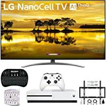 """$1229 Get LG 55SM9000PUA 55"""" 4K HDR Smart LED NanoCell TV w/AI ThinQ 2019 Model with Xbox One S 1TB, Wireless Backlit Keyboard, Flat Wall Mount Kit & SurgePro 6-Outlet Surge Adapter"""