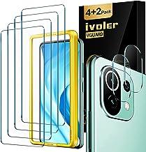 ivoler Pack de 4 Verre Trempé Compatible avec Xiaomi Mi 11 Lite 4G et 5G, avec Kit Installation Offert et [2 pièces] Caméra Arrière Protecteur, Film de Protection d'écran [Anti Rayures]