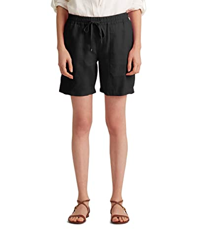 LAUREN Ralph Lauren Linen Drawcord Shorts (Polo Black) Women