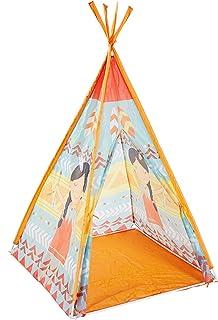 Tält för barn, klassiskt indiskt lektält för barnstolpar, indiskt regnbåge lektält, barn bärbart klassiskt tipetält, lekhu...