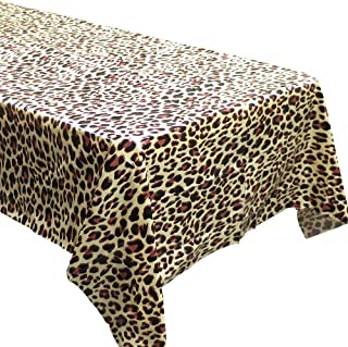 Blue Orchards Leopard Print Tablecovers (2), Safari Birthdays, Leopard Party Supplies, Animal Themed Decorations, Cheetah Print