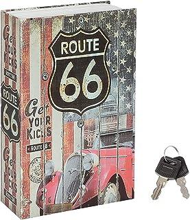 Jssmst Book Safe with Key Lock, Diversion Book Safe Secret Hidden Book with Safe Inside, Fake Book Money Safe Metal Lock B...