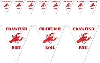 Beistle Crawfish Boil Pennant Banner, 10 by 12-Feet, White/Red (Value 3-Pack)