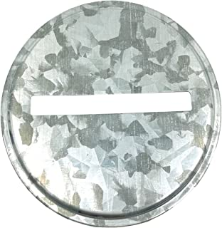 Galvanized Metal Coin Slot Bank Lid Insert for Mason, Ball, Canning Jars (8 Pack,Regular Mouth)