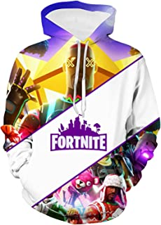 Youth Fortnite Hoodie and Beamed Sweatpants Suit Hooded Sweatshirts for Boys Girls