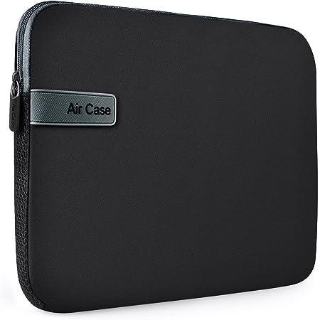 AirCase Laptop Bag Sleeve Case Cover Pouch for 15.6-Inch Laptop for Men & Women Neoprene (Black)