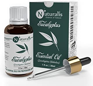 Naturalis Essence of Nature Eucalyptus Essential Oil, Therapeutic Grade, Perfect For Steam Inhalation, Joints Pain, Mosqui...