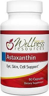 Astaxanthin 6mg 90 caps AstaReal for Eyes, Skin, Immunity - USA Grown Natural Astaxanthin, Non-GMO
