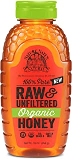Nature Nate's 100% Pure Raw & Unfiltered Organic Honey; Product of Brazil and Uruguay; Packaged in 16-oz. Squeeze Bottle; Enjoy Honey's Balanced Flavor and Wholesome Benefits, Just as Nature Intended