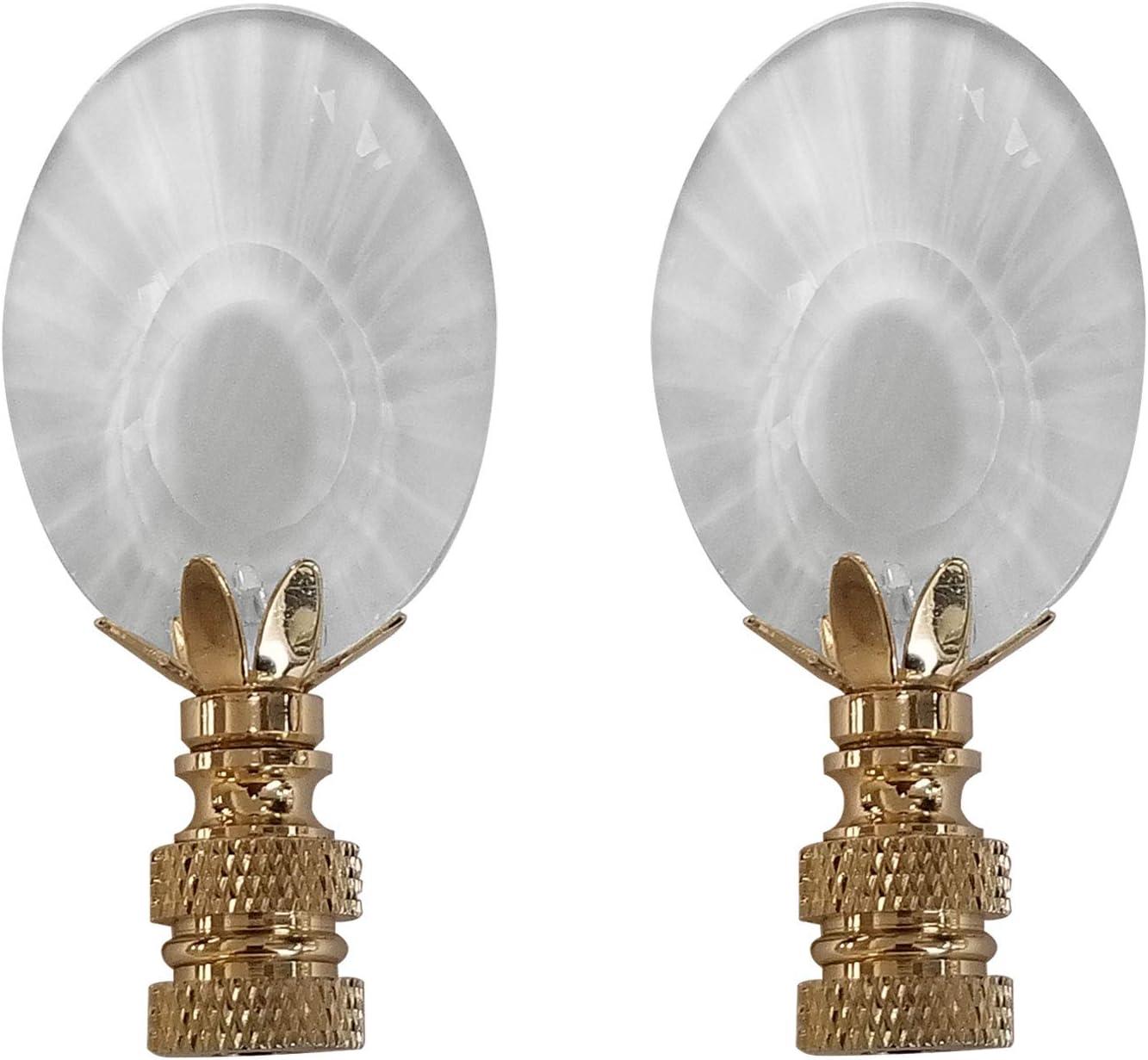 Royal Selling Designs Center Award-winning store Cut Oval Design Medium Lamp F Clear Finial