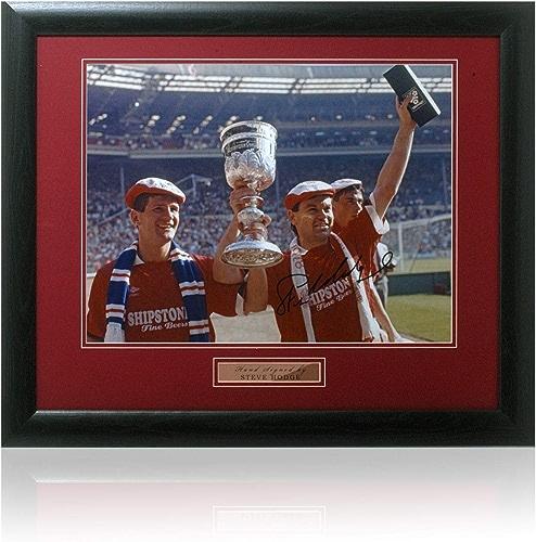 British Sports Museum Steve Hodge Photo signée à la Main 40,6 x 30,5 cm