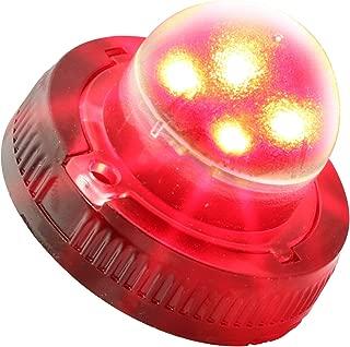 LAMPHUS SnakeEye II SEHA14 LED Hideaway Strobe Warning Lights [SAE Class 3] [33 Modes] [4 Watt] [Weatherproof] Flashing Lights for Police & Firefighter Emergency Vehicles - Red