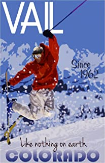 A SLICE IN TIME Vail Colorado Ski Winter II United States America Travel Advertisement Poster Print. Measures 10 x 13.5 inches