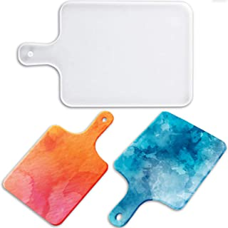 Resin Silicone Tray Molds, Chriffer Square Serving Tray Moulds for Epoxy Resin Faux Agate Tray DIY Resin Serving Board, Gr...