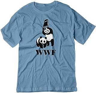 Men's WWF WWE Panda Wrestling Chair Parody Shirt