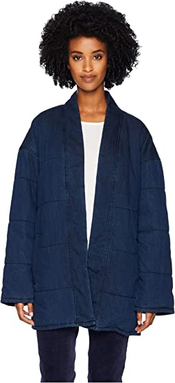 Quilted Tencel Organic Cotton Denim Slouchy Jacket