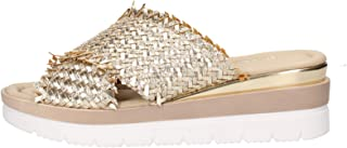 Valleverde 32140 Sandalo Scarpe Zeppa Donna Pelle Memory Oro
