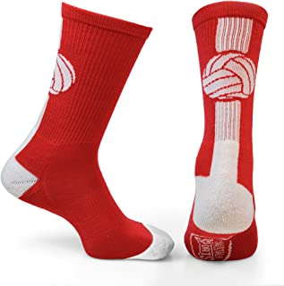 Athletic Half Cushioned Crew Socks | Mid Calf | Volleyball | Multiple Colors