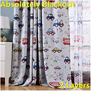 MYRU Absolutely Blackout Curtains for Kids Room,2 Layers...