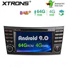 XTRONS Android 9.0 Double Din Car Stereo Radio DVD Player Octa Core 4G RAM 64G ROM GPS Navigation 7 Inch Touch Screen Head Unit Supports WiFi OBD2 DVR TPMS Backup Camera for Mercedes Benz E-Class W211