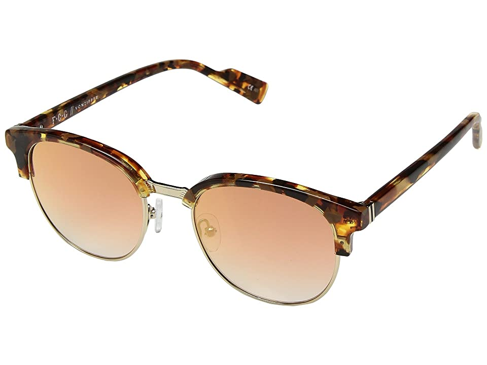 VonZipper Citadel (Golden Tortoise/Gold Chrome Gradient) Athletic Performance Sport Sunglasses