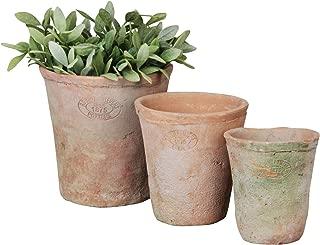 Esschert Design Aged Terracotta Round Pots - Set of 3 Esschert Design Aged Terracotta Round Pots - Set of 3