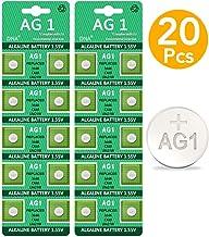 20 pilas de botón DNA AG1 / LR60 / 164/364 / LR621 con larga vida útil (fecha de caducidad marcada).