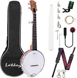 Sponsored Ad – Banjo Strings 5,Tenor Banjo 26 inch Banjos Kit for Professional Beginners with Extra Strings Strap Pick-up ...
