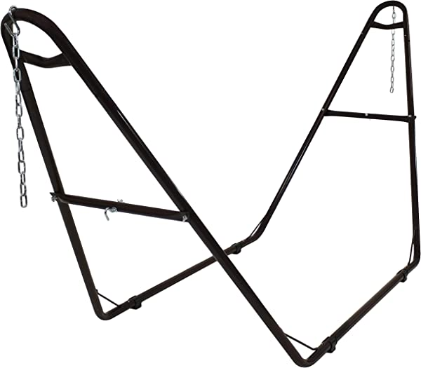 Sunnydaze 550 Pound Capacity Universal Multi Use Heavy Duty Steel Hammock Stand 2 Person Fits Hammocks 9 To 14 Feet Long Bronze