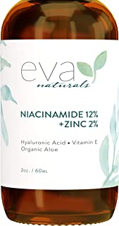 Sponsored Ad - 12% Niacinamide Serum for Face + Zinc – Vitamin B3, 2% Zinc and Hyaluronic Acid Serum Known to Even Skin To...