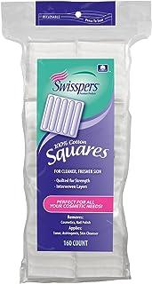 Swisspers Cotton Squares, 160 Count
