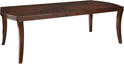 """Standard Furniture Insignia Dining Table with 18"""" Leaf, Golden Brown"""