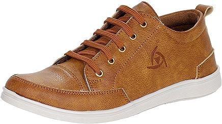Kraasa Men's Faux Leather Sneaker