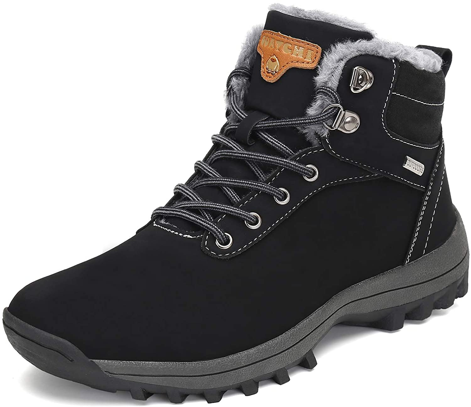 Mens Womens Winter Ankle Snow Hiking Boots Warm Water Resistant Non Slip Soft Lined