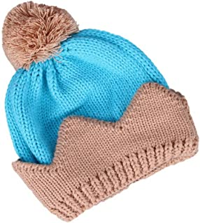 Jixin4you Baby Soft Crown Knitting Cap Beanie Hat with Ball 46cm