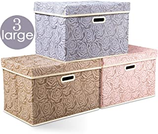 large decorative cardboard storage boxes with lids