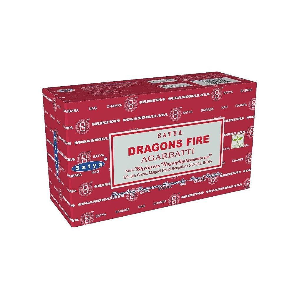 アクロバット成人期ウサギSatyaバンガロール(BNG) Dragon 's Fire Incense Sticks 12ボックスX合計15?g180グラム