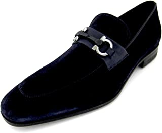 SALVATORE FERRAGAMO Boy 2 Mens Suede Loafers Shoes Made in Italy