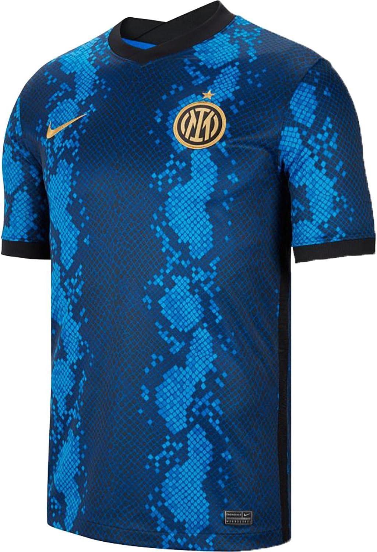 Nike 2021-2022 Inter Milan Home T-Shirt Soccer Super popular Jacksonville Mall specialty store Jersey Football