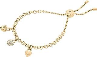"""Michael Kors """"Logo Logo Love Gold-Tone Slider Bracelet"""