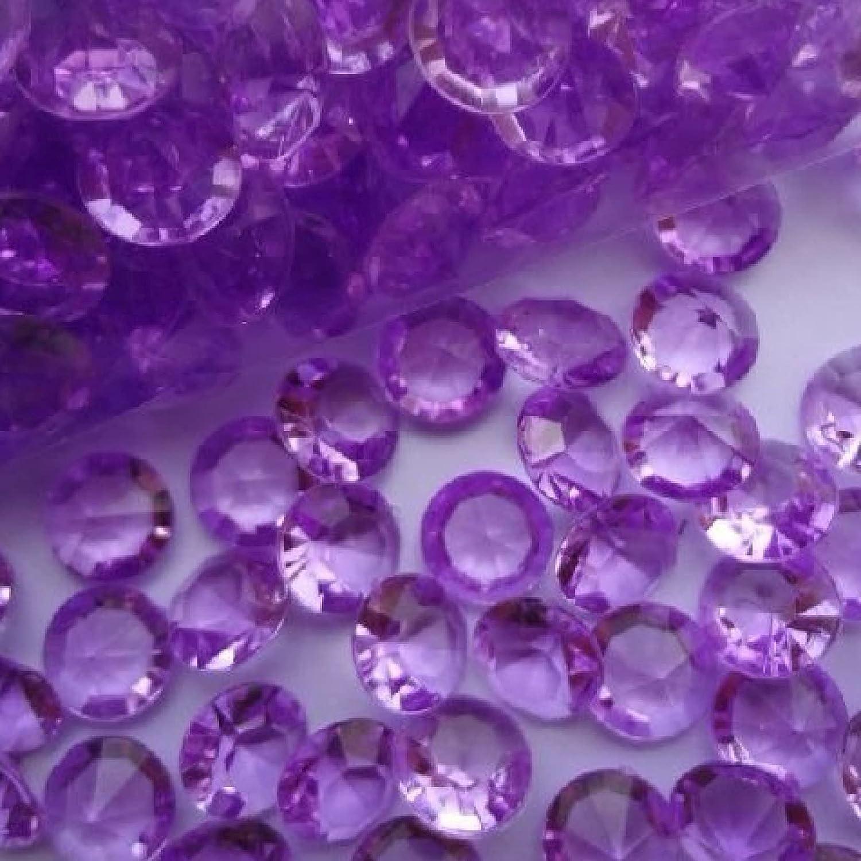 1000pcs/lot 10mm 4 Carat Light Purple Wedding Crystal Table Scat