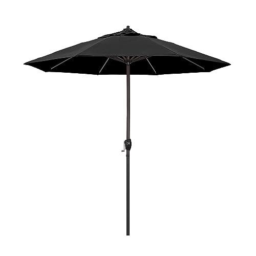 California Umbrella 9' Round Aluminum Market Umbrella, Crank Lift, Auto  Tilt, Bronze - Black Patio Umbrellas: Amazon.com