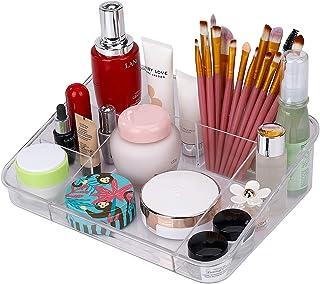 Organizador de Maquillaje Caja acrílica Estante Cosméticos Joyería Bandeja Organizadora Clear con 8 compartimentos para e...