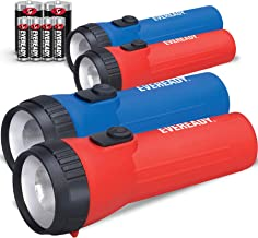 Eveready LED Flashlight Multi-Pack with Batteries, Bright and Durable, Extended Battery Life, Use for Emergencies, Camping...