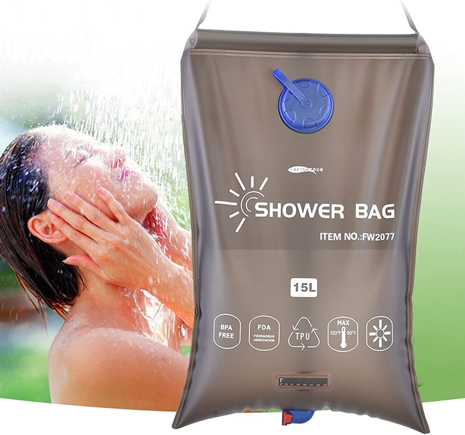 Solar Shower Bag Hua Durable 15L W New products world's highest quality popular Ranking TOP12 TPU Outdoor